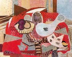 """Still Life on Red Table Cloth,"" 1934"