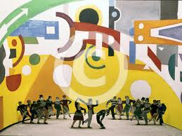 "Curtain from ""Skating Rink"" ballet, Fernand Leger, 1922"