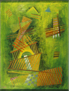 """Composition in Green,"" by Werner Drewes, 1935"