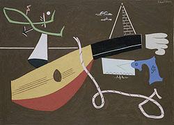 """Still Life with Saw,"" 1930, by Stuart Davis"