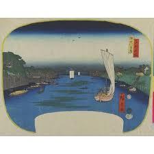 """The Banks of the Sumida River,"" by Utagawa Hiroshige"