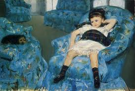 """Little Girl in Blue Armchair,"" 1878, by Mary Cassatt"