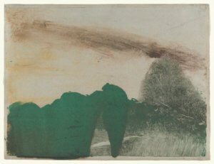 """Forest in the Mountains,"" 1890, by Edgar Degas"