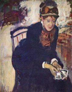 """""""Mary Cassatt,"""" 1879-84, by Edgar Degas"""
