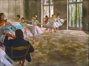 """Rehearsal in the Studio,"" 1878-79, by Edgar Degas"