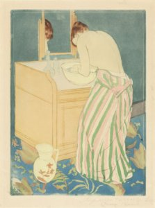 """Woman Bathing,"" 1890-91, by Mary Cassatt"
