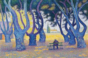 """""""Place des Lices, Saint-Tropez, Opus 242,"""" by Paul Signac"""