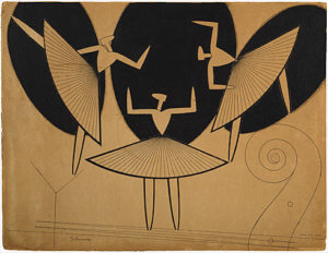 """Silhouette,"" 1916, by Man Ray"