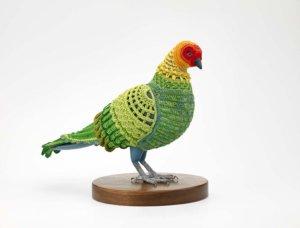 """Biodiversity Reclamation Suit: Passenger Pigeon,"" 2008, by Laurel Roth Hope"