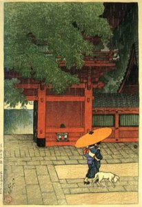 """May Rain at Sanno Shrine,"" 1919"