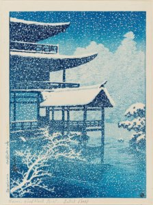 """Snow at Golden Pavilion,"" 1922"