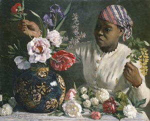 """African Woman with Peonies,"" 1870, by Frederic Bazille"