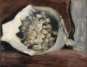 """Bouquet in a Loge,"" 1878-80, by Auguste Renoir"