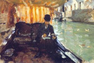 """Ramon Subercaseaux in a Gondola,"" 1880"