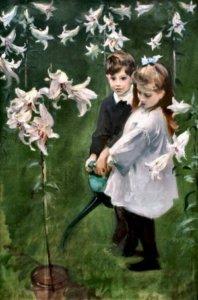 """Garden Study of the Vickers Children,"" 1884"