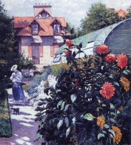 """"""" Dahlias, Garden at Petit Gennevilliers,"""" 1893"""