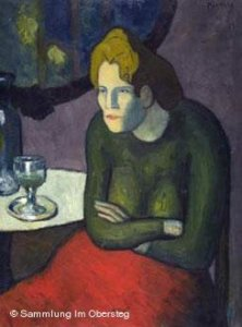 """Absinthe Drinker,"" by Pablo Picasso"