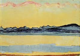 """""""Mont-Blanc with Pink Clouds,"""" by Ferdinand Hodler"""