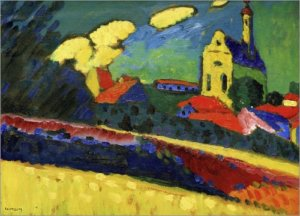 """Study of Murnau--Landscape with Church,"" by Wassily Kandinsky"