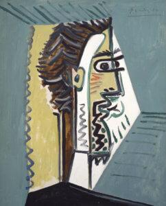 """""""Tete d'homme, profil"""" by Pablo Picasso, 1963"""