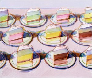 """Meringues,"" by Wayne Thiebaud, 1988"