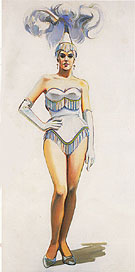 """Revue Girl,"" by Wayne Thiebaud, 1963"