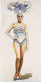"""Revue Girl,"" by Wayne Thiebaud, 1963"