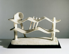 """Reclining Woman Who Dreams,"" 1929, by Alberto Giacometti"